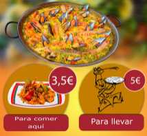 Paellas Domingos y festivos from Bar y Automaticos Moncadas